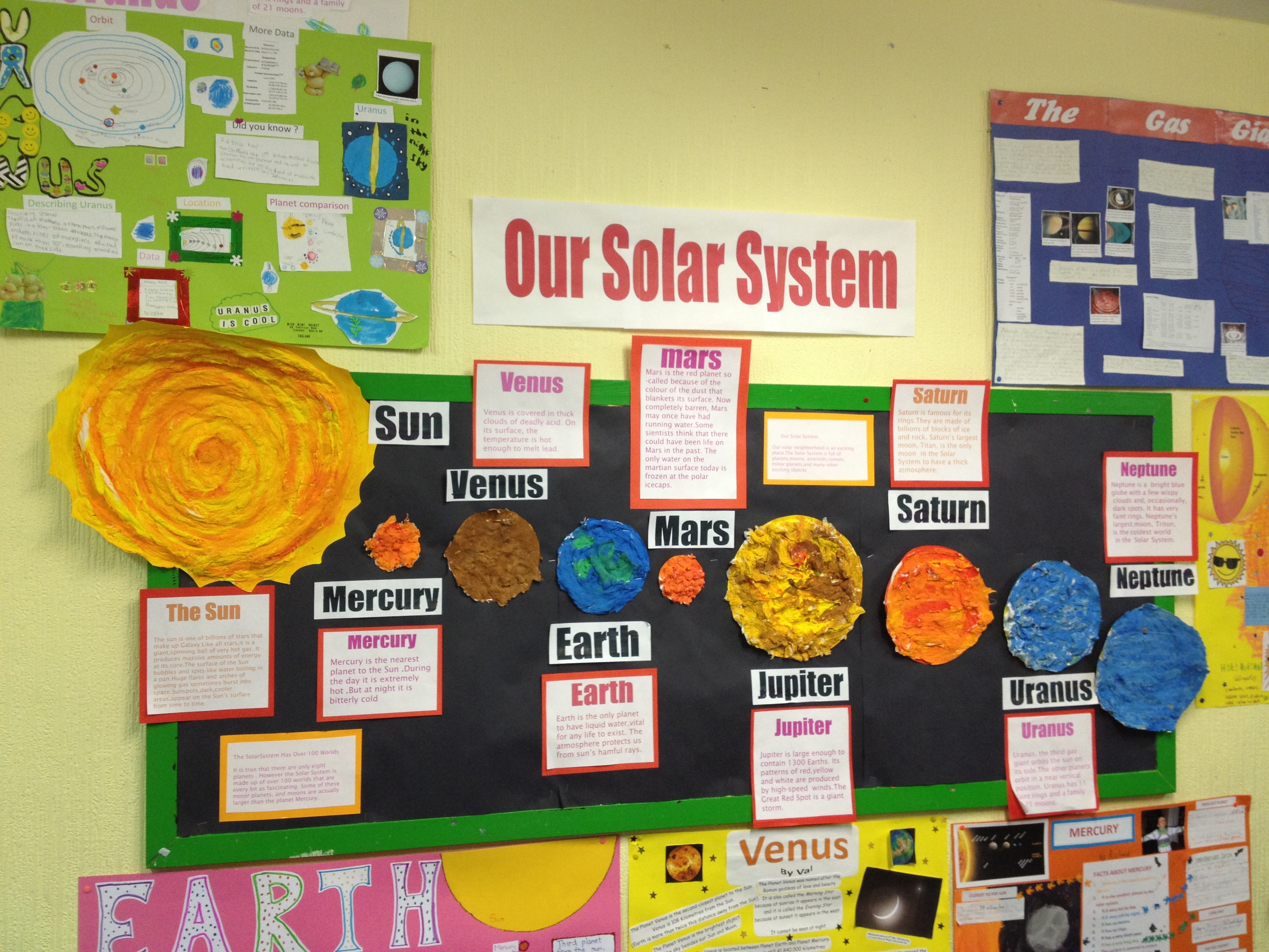 solar system projects on poster board page 5 pics