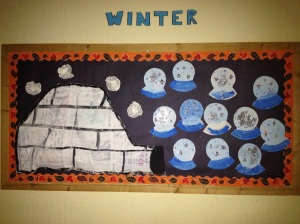 Nursery winter wall