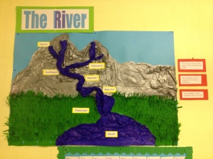 Parts of the river display