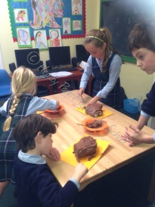 Lots of fun working with chocolate icing.