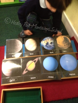 3 part cards of the Planets