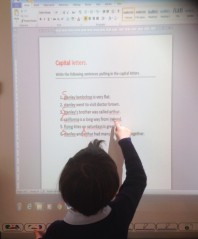 Using our Interactive White Board.