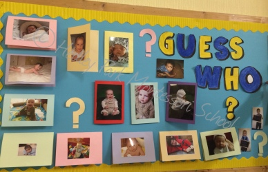 Reception Class: Guess Who Display