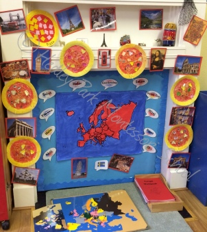Junior Class: Europe Continent Display