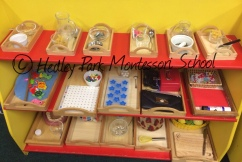 Reception Class: Practical Life Shelves