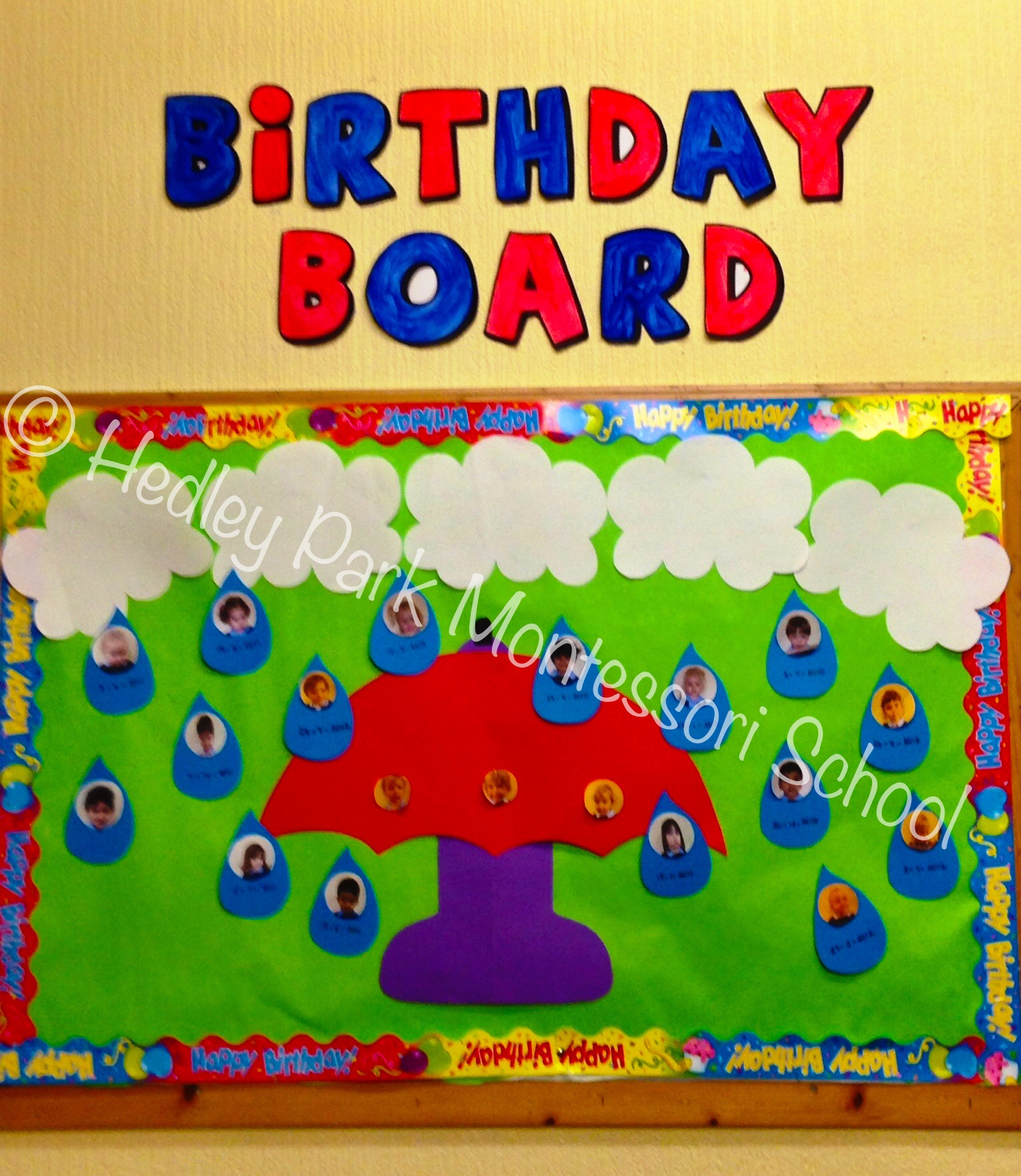 November Classroom Decor ~ Nursery class birthday board hedley park montessori school