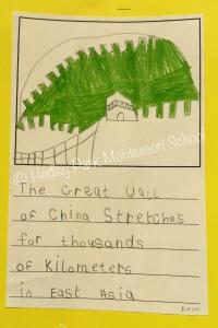 Junior Class - Asia writing samples